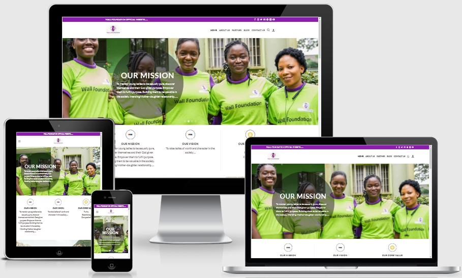 An NGO Website in Nigeria